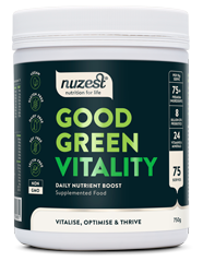 Nuzest Good Green Vitality is the ultimate complete nutritional supplement for immunity, energy, digestion, health